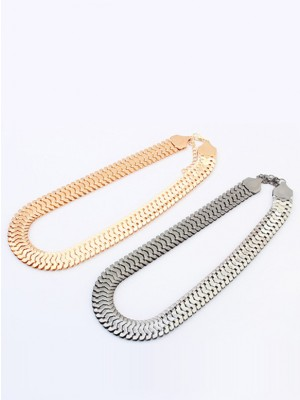 Occident Personality Metallic thick chains Short Hot försäljning Halsband