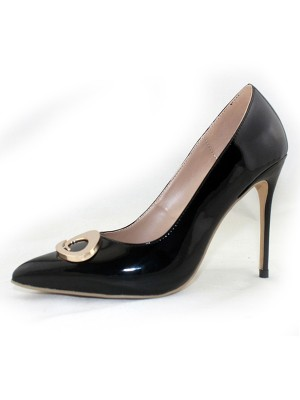 Kvinnors Patent Leather Closed Toe Stiletto Heel Office Högklackat