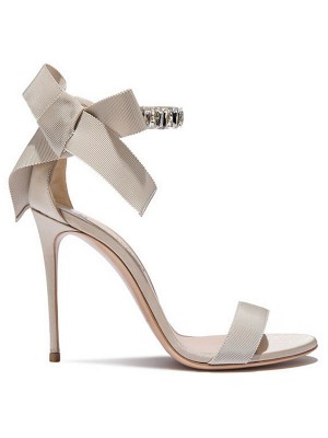 Kvinnors Satäng Peep Toe Stiletto Heel Sandals