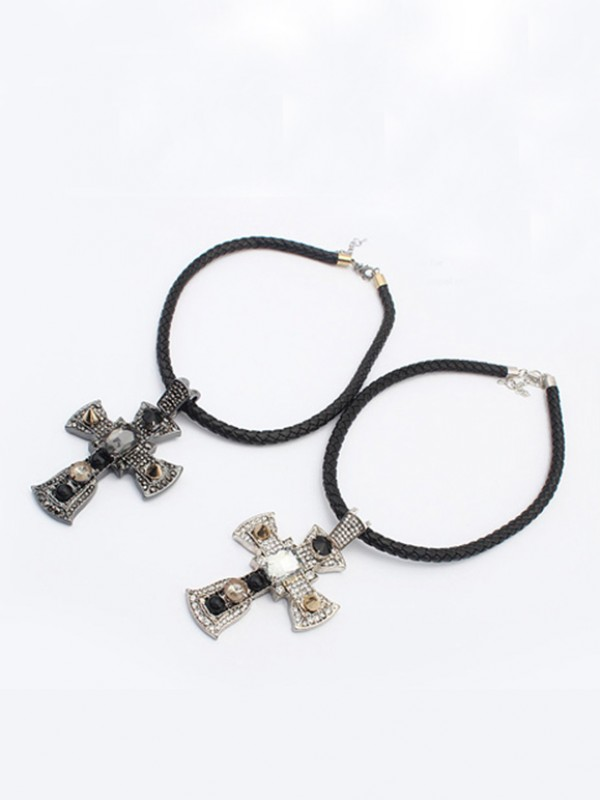 Occident Punk Retro Cross Hot försäljning Halsband